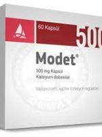 Modet 500 mg kapsül nedir ve ne için Kullanılır?