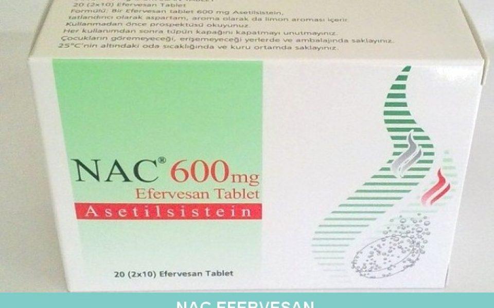 Nac 600 mg Efervesan Tablet nedir ve ne için kullanılır?
