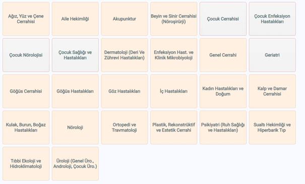 istanbul tıp fakültesi hangi bölümlere randevu alınır