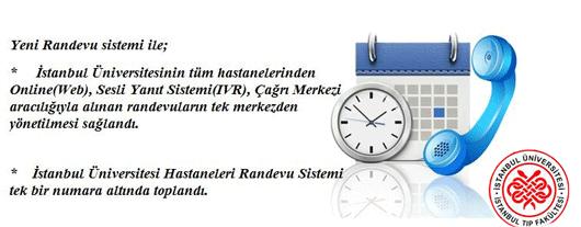 istanbul tıp fakültesi randevu nasıl alınır